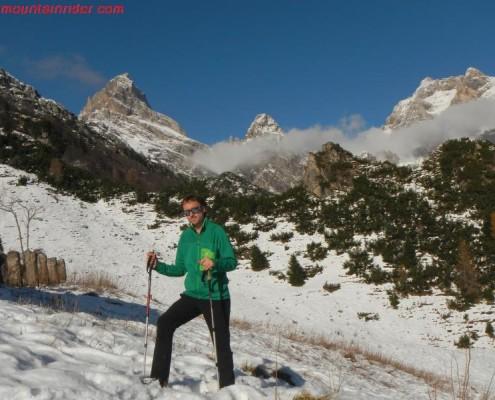 in montagna da solo