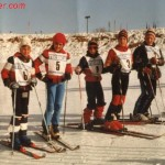 I miei primi sci, un paio di Maxel arancioni