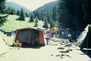 campeggio in montagna