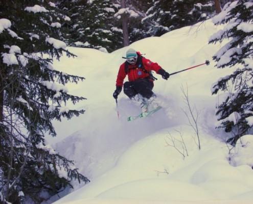 freeride nelle Dolomiti