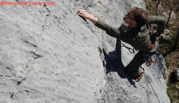 arrampicare a vista