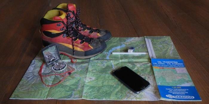 preparare un escursione in montagna