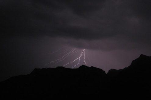 temporali in montagna