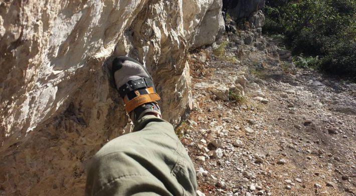 puzza scarpette da arrampicata